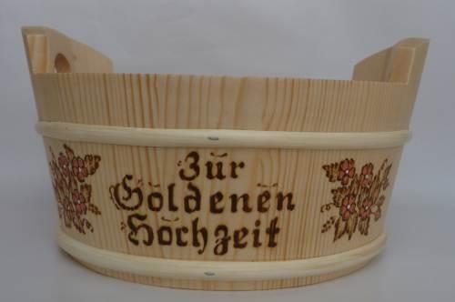 Präsentkörbchen Zur Goldenen Hochzeit Hochzeitskorb Rund